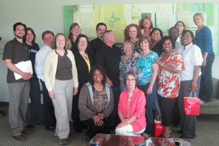 Matthew (third from left) with the Advanced Level Facilitator Training Class for WRAP in 2010.